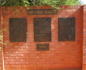 John OBrien Commemorative Wall - Newcastle Accommodation