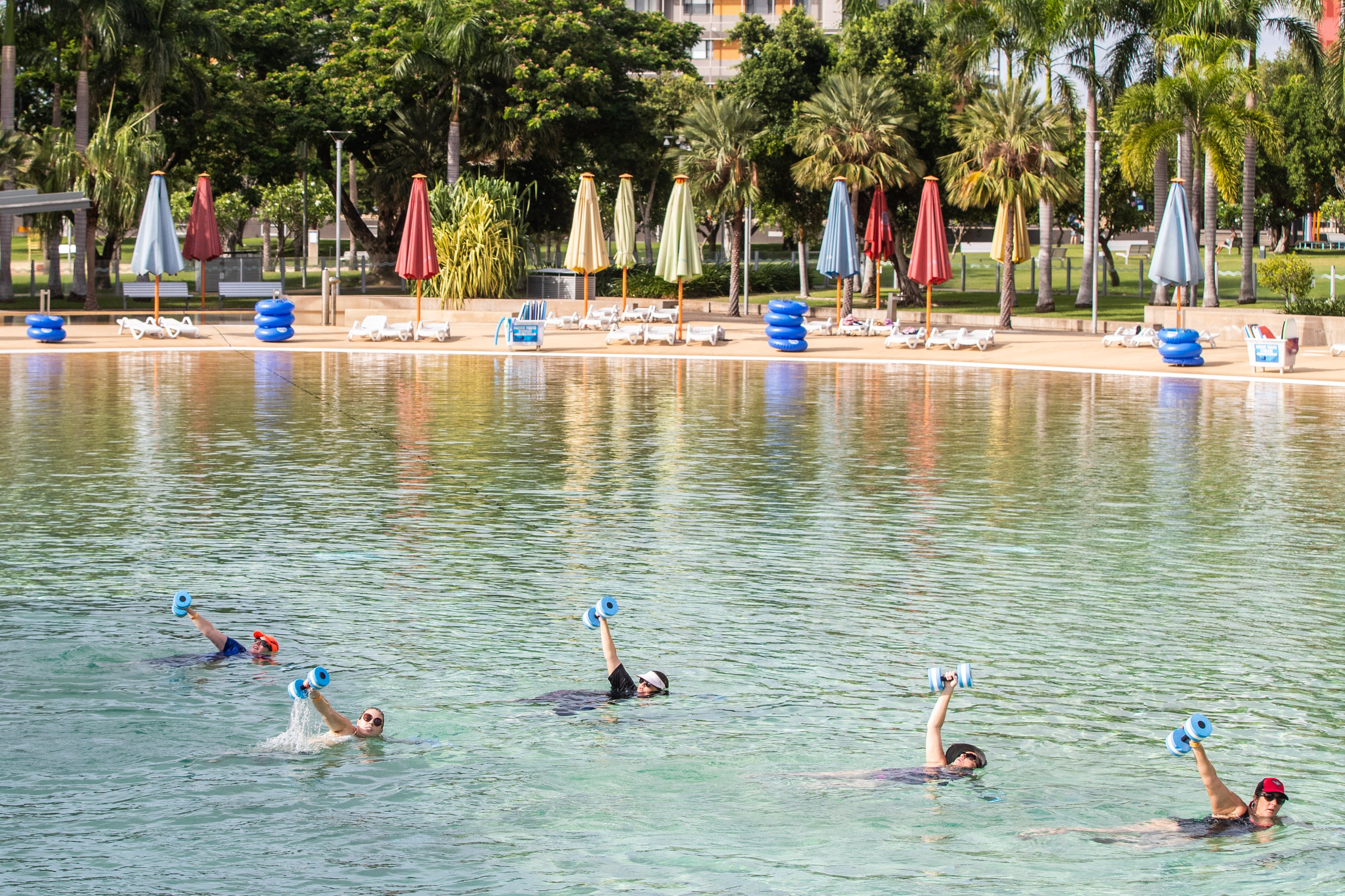 Aqua fitness in the Wave Lagoon - Newcastle Accommodation