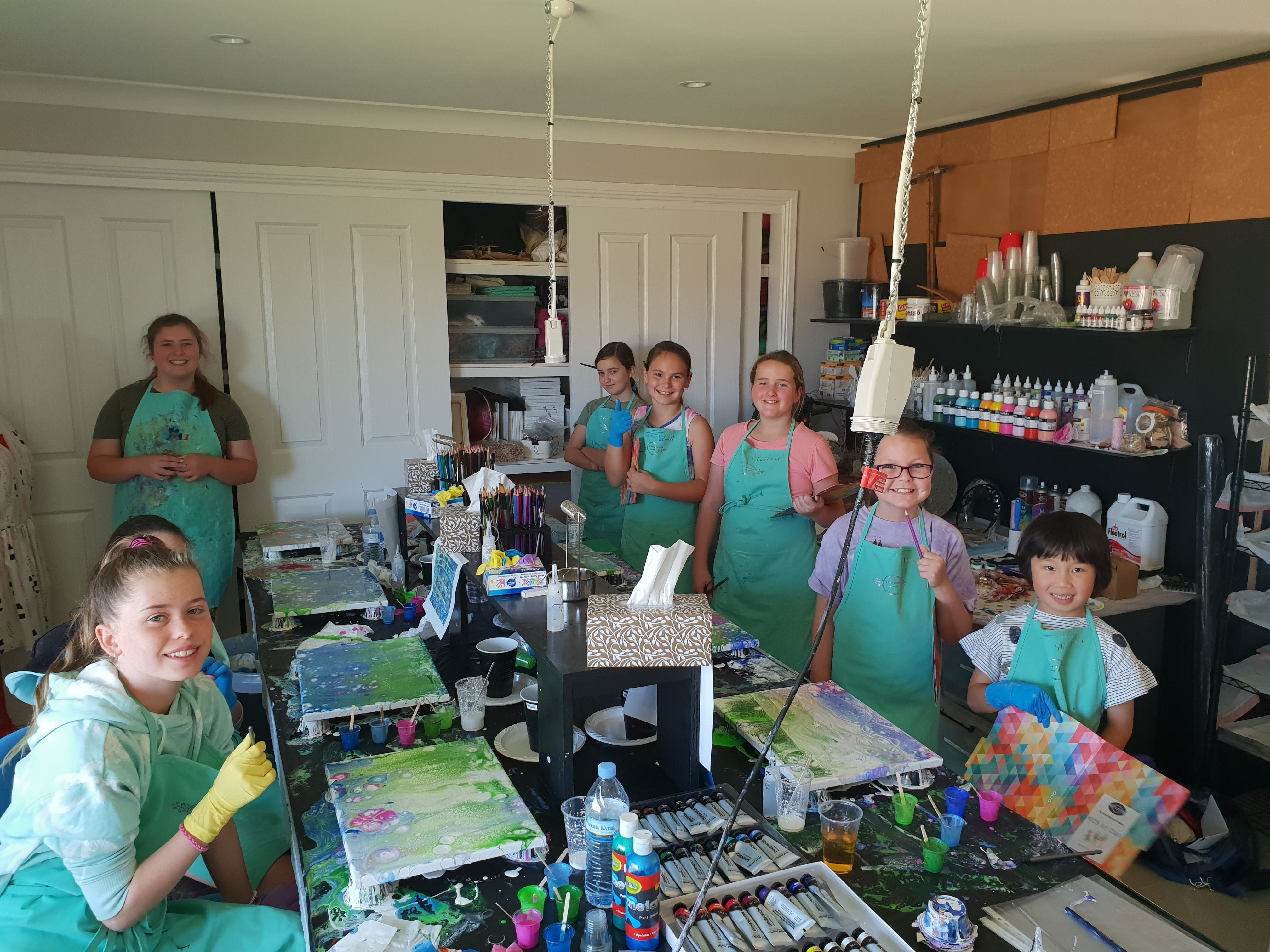 School holidays - Kids art class - Painting - Newcastle Accommodation