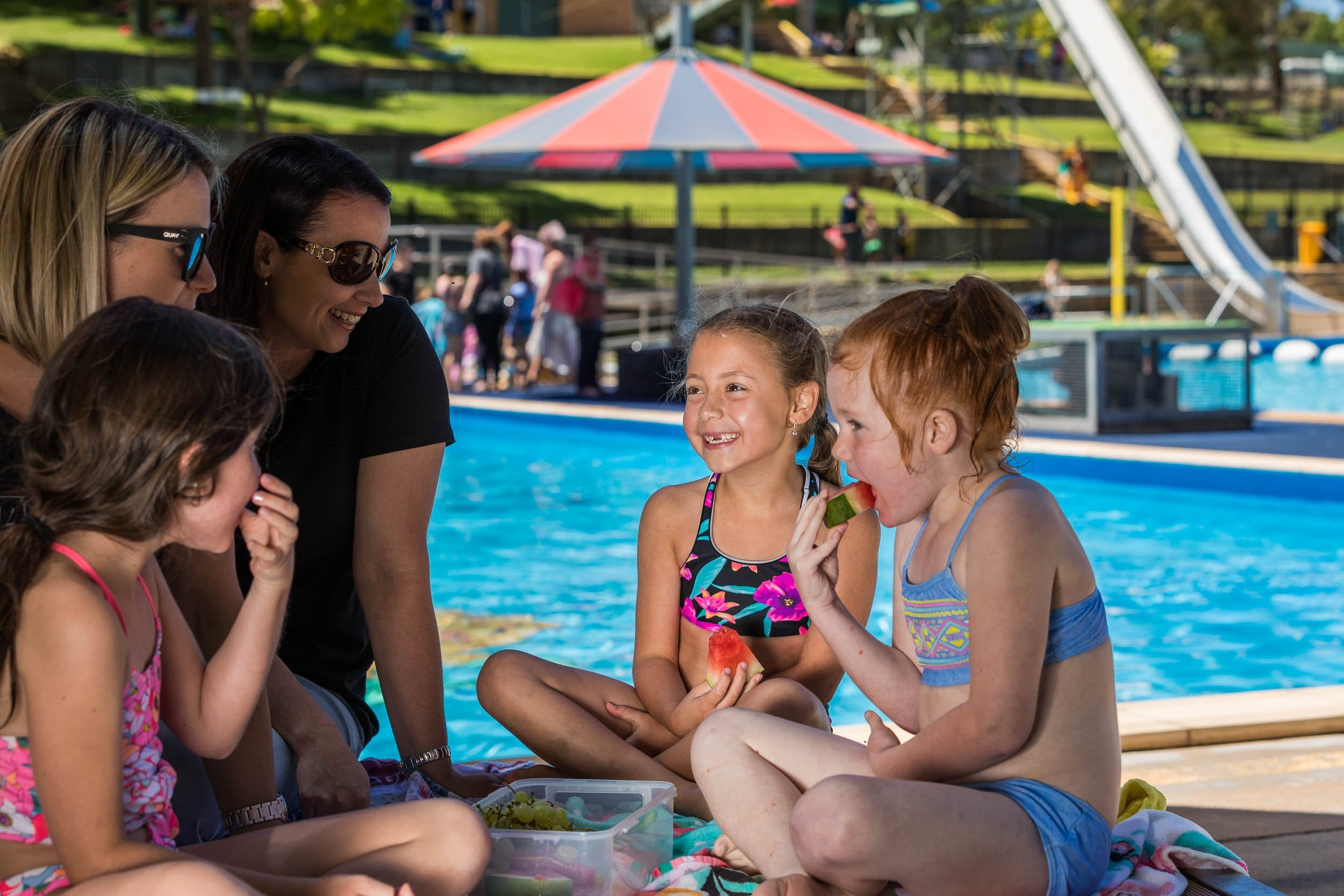 Australia Day fun at Lake Talbot Water Park - Newcastle Accommodation