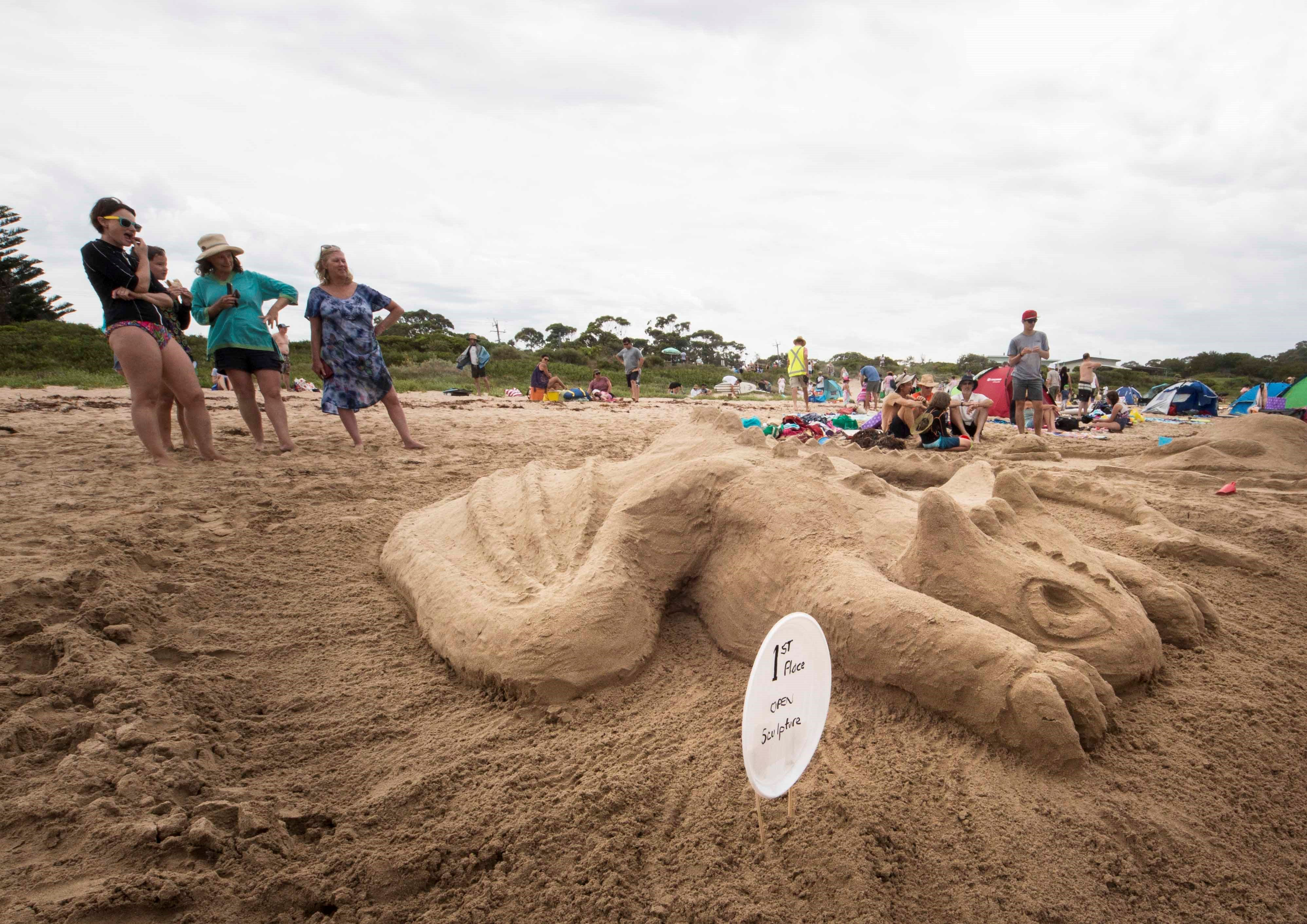 Broulee New Year's Eve Sandcastles and Sculptures - Newcastle Accommodation